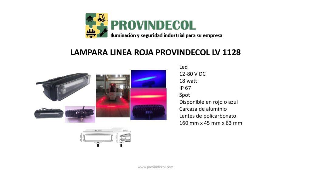 Lámpara línea roja PROVINDECOL LV 1128