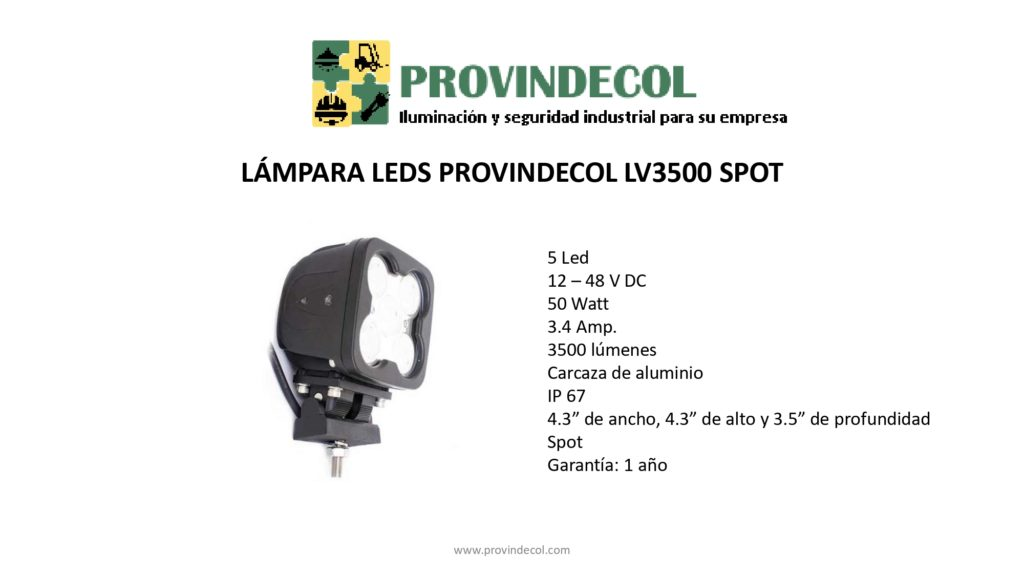 Lámpara leds PROVINDECOL LV3500S